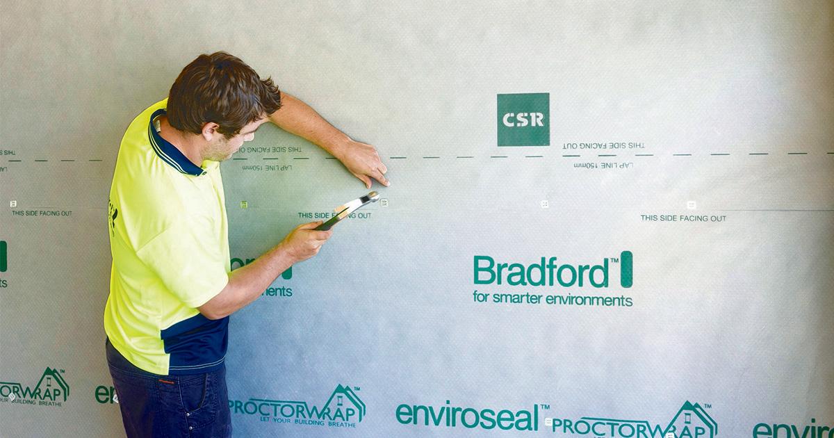 Bradford Enviroseal ProctorWrap - vapour permeable wall wrap