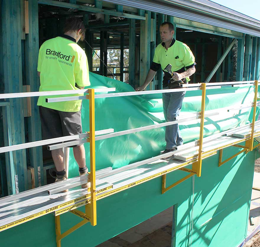 A two person RapidWrap team can complete an average two-storey house in less than a day